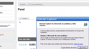 error internet explorer 8